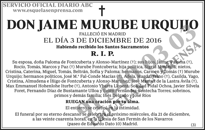 Jaime Murube Urquijo